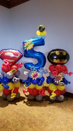 Timestamps DIY night light DIY colorful garland Cool epoxy resin projects Creative and easy crafts Plastic straw reusing ------. Superman Party, Superman Birthday, Avengers Birthday, Superhero Birthday Party, 4th Birthday Parties, Birthday Party Decorations, Superhero Balloons, Wonder Woman Birthday, Balloon Decorations