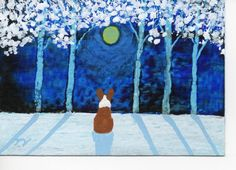 corgi deep in thought Snow Dogs, Pembroke Welsh Corgi, Corgi Dog, Corgis, Christmas 2014, Deep, Club, Etsy, Painting