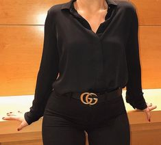 Pin by Brooklyn Parker on Clothes/shoes/accessories in 2019 Stylish Work Outfits, Simple Outfits, Classy Outfits, Pretty Outfits, Cool Outfits, Gucci Outfits, Fashion Outfits, Pinterest Fashion, All Black Outfit