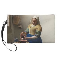 The Milkmaid by Johannes Vermeer Wristlet