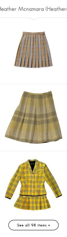 """Heather Mcnamara (Heathers)"" by child-of-jove ❤ liked on Polyvore featuring skirts, bottoms, clothing - skirts, brown skirt, mini skirts, plaid, box-pleat skirts, plaid skirt, vintage plaid skirt and wool mini skirt"