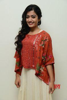 Actress Rashmika Mandanna Stills From Chalo Movie Teaser Launch - Social News XYZ Beautiful Dress Designs, Stylish Dress Designs, Choli Designs, Kurta Designs, Indian Fashion Dresses, Indian Designer Outfits, Navratri Dress, Kurti Embroidery Design, Hand Work Blouse Design