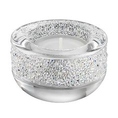 For a festive atmosphere, this tea light is embellished with hundreds of Swarovski crystals set in the Crystal Rock technique. An ideal gift for any occasion.