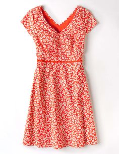Printed Cotton Dress WH627 Day Dresses at Boden
