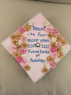 Audiology grad cap! Graduation cap for a future audiologist