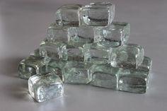 Skleněné ledové kostky 25x25x17 mm, balení 20 ks