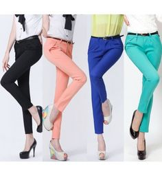 Plus Size Women Pants New 2015 Cotton women Casual pants capris Slim Trousers  Female S-XXL 6582833b72f2