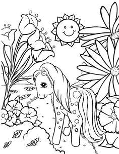 Min Lille Pony Tegninger til Farvelægning. Printbare Farvelægning for børn. Tegninger til udskriv og farve nº 21