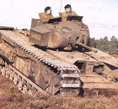 The Tank, Infantry, Mk IV (A22) was a heavy British infantry tank used in the Second World War, best known for its heavy armour, large longitudinal chassis with all-around tracks with multiple bogies, and its use as the basis of many specialist vehicles. It was one of the heaviest Allied tanks of the war.