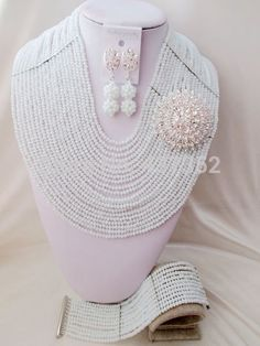 Find More Jewelry Sets Information about Full design! 20 layers White Crystal Beads Nigerian wedding african beads jewelry set bridal jewelry sets AAC204,High Quality jewelry watches for men,China jewelry princess Suppliers, Cheap jewelry packaging boxes wholesale from Alisa's Jewelry DIY Store on Aliexpress.com