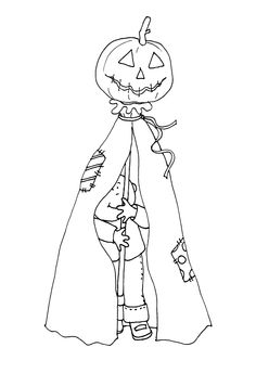 Free Dearie Dolls Digi Stamps: Halloween Boy
