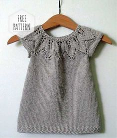 Knitting Vest for Kids - Kids # Knitting Patterns For Kids Knitting Terms, Knitting For Kids, Knitting For Beginners, Free Knitting, Girls Knitted Dress, Knit Baby Dress, Knitted Baby, Crochet Baby, Baby Sweater Patterns