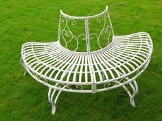 Cream Metal Tree Bench from Olive and Sage