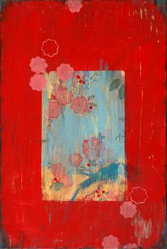 Kathe Fraga paintings, inspired by the romance of vintage French wallpapers and…