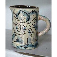 Earthenware milk jug by Mike Levy
