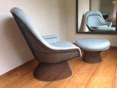 Platner Easy Chair Ottoman In Bronze And Linen Lower Manhattan Apartment Therapy Classifieds