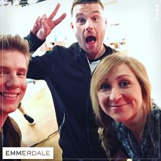 Ryan Hawley, Danny Miller and Charlotte Bellamy