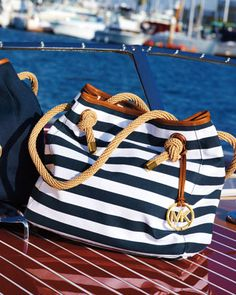 MIchael Kors nautical canvas bag. This is on my next list...