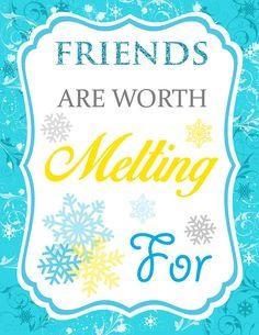 Disney's Frozen Inspired Friends Sign #Frozen #Olaf