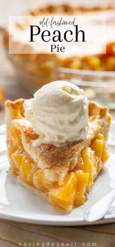 Peach Pie Recipes, Pumpkin Recipes, Just Desserts, Dessert Recipes, Desserts With Peaches, Fresh Peach Pie, Pumpkin Jam, Summer Pie, Peach Cake