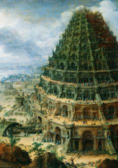 jaded-mandarin:  Marten van Valckenborch the Elder. Detail from The Tower of Babel, 1595.  minaret