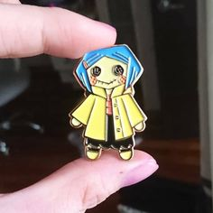 Coraline Doll Enamel Pin by WeiliWonka on Etsy Mode Pastel, Coraline Doll, Geeks, Bag Pins, Jacket Pins, Cool Pins, Pin And Patches, Metal Pins, Pin Badges