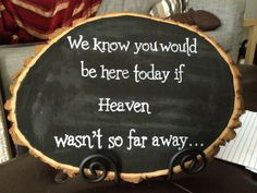 We know you would be here today Chalkboard wedding sign