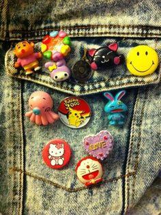 The more pins u had the cooler u were! :-p