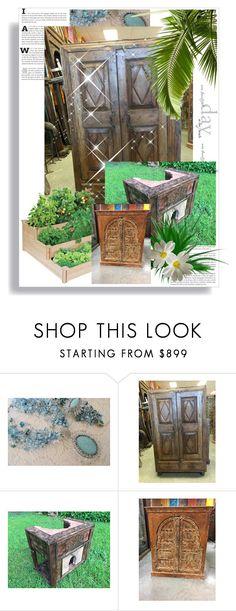 """Spanish Decor"" by era-chandok ❤ liked on Polyvore featuring interior, interiors, interior design, home, home decor, interior decorating, sale, offer, armoire and antiquefurniture"