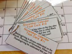 Teaching kids to really USE the calendar!