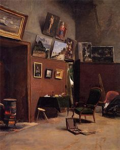 The Studio on the Rue de Furstenberg, Jean Frederic Bazille. French Impressionist painter (1841 – 1870)