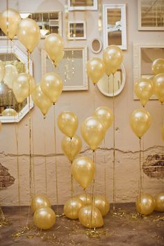 balloons, since i may not be able to fill the ceiling with them because of the stairs
