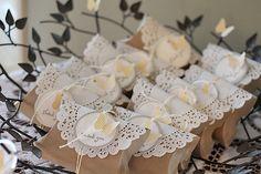 Cajita almohada / piso de torta