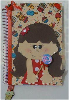 Caderno Decorativo Menina Gulosa