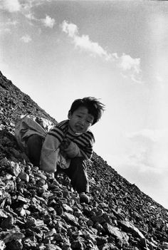 The Children of Chikuho. Ken Domon's classic book about life in a poor coal-mining town in Kyushu, focusing especially on the children living there