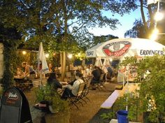 Beer garden in Bamberg, Germany. Mmm, I'm definitely looking forward to spending a lot of time at these! :)