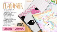 Planner 2019 para imprimir, vários temas prontos para encadernar. Planner mensal, diário e permanente personalizado para download grátis Agenda Planner, Study Planner, Planners, Hand Lettering, Free Printables, Diy And Crafts, Doodles, Bullet Journal, Scrapbook