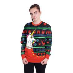 PUSHING BLACK Merry Christmas with Peeking Reindeer Unisex Sweatshirt