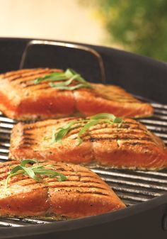 Grilled Sockeye Salmon with Fresh Herbs and Garlic - an amazing, easy, nutritious and fresh summer entree that is naturally dairy-free, gluten-free and paleo