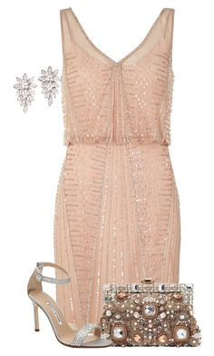 """""""For the love of Sparkle!"""" by lbite ❤ liked on Polyvore featuring Adrianna Papell, Dolce&Gabbana and Manolo Blahnik"""