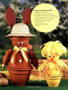 terra cotta pot people | ... People,Animals,and Fantasy Characters on Terra-Cotta Pots: Natalie