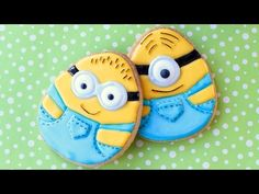 Easter Minion Cookies - How to make Easter egg minion cookies - YouTube