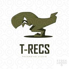 trex, sound, recording, dinosaur #logo