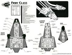 Fiery class deck plans by RobCaswell spaceship spacecraft MegaTraveller Journal map cartography | Create your own roleplaying game material w/ RPG Bard: www.rpgbard.com | Writing inspiration for Dungeons and Dragons DND D&D Pathfinder PFRPG Warhammer 40k Star Wars Shadowrun Call of Cthulhu Lord of the Rings LoTR + d20 fantasy science fiction scifi horror design | Not Trusty Sword art: click artwork for source