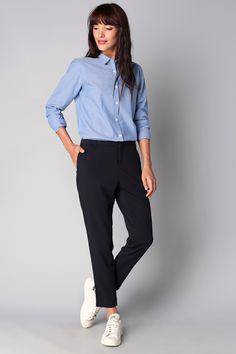 Pantalon 7/8 droit navy Melinda Maison Scotch sur MonShowroom.com