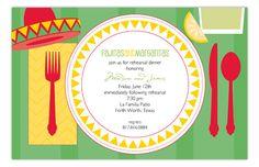 Fiesta Tabletop Invitation