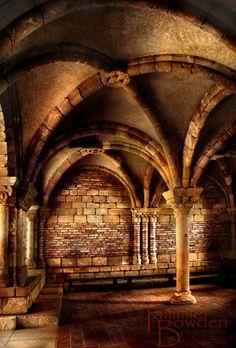 Golden Arches - Original Photograph 8x10 - Amber Sepia Architecture Stone Castle Medieval Monastery Masculine Unisex Home Decor Wall Art. $28.00, via Etsy.