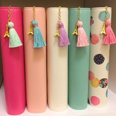 Love in Paris Tiny Tassel Charm with extended keychain makes a great addition to or Personal size planners. Available in five colors with gold trim. Carpe Diem Planner, Bookmarks Kids, Paperclip Bookmarks, Book Markers, Planner Decorating, Kids Jewelry, Diy Crafts Videos, Yarn Crafts, Diy Crafts For Kids