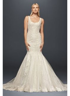 David's Bridal Truly Zac Posen Scoop Back Lace Wedding Dress 4XLZP341712 $1,308 - $1,408