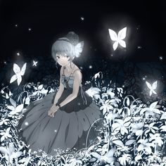 anime girl with butterflies Art Manga, Manga Anime Girl, Art Anime, Anime Kunst, Anime Artwork, Anime Girls, Pretty Anime Girl, Beautiful Anime Girl, I Love Anime